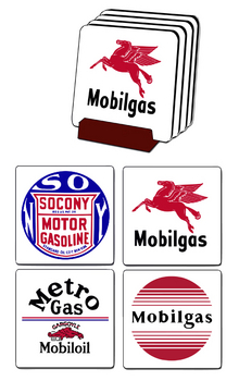 Mobiloil Coaster set | Gasoline Merchandise