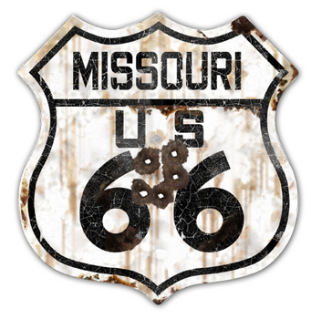 22-1MIR  Rustic Missouri 66 Shield | Highway Signs