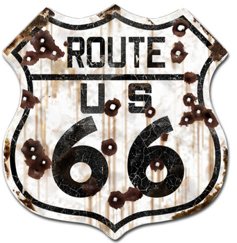 Rustic Route 66 Shield | Highway Signs