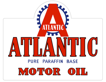 AUS-3 Atlantic Motor Oil | Foreign Signs