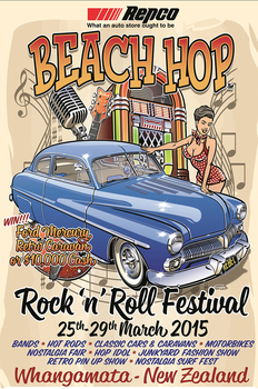 Beach Hop 2015  Poster | Event Signs