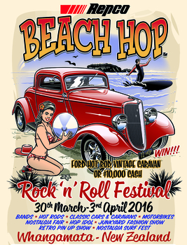 Beach Hop 2016 Poster | Event Signs