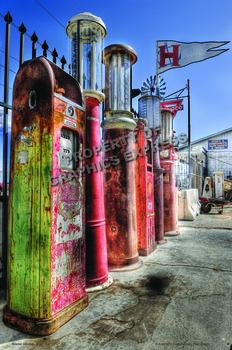Gas Pump Row | Linda Berman