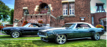 KV-105-P Two Muscle Cars | Panoramic HDR Photos