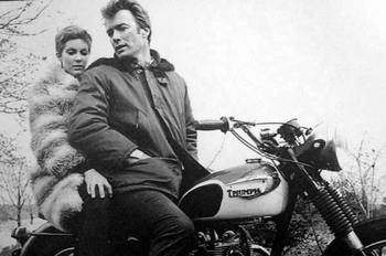 MC-21  Eastwood on a Triumph | Motorcycle Archives