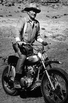 MC-3  John Wayne on a Honda | Motorcycle Archives