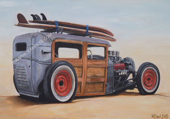 NP-1 WOODY RAT ROD PAINTING | Misc Photographs