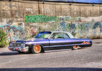 PM-13 64' LOW RIDER W/GRAFITTI WALL | Misc Photographs