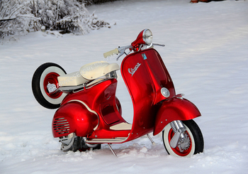 PM-28 VESPA IN THE SNOW | Misc Photographs