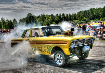 PM-7 FALCON GASSER BURNOUT | Misc Photographs