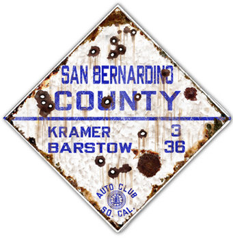 SBCO-R  San Bernardino County Route  | Highway Signs