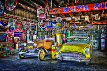 Front of Buick and Model A | Linda Berman