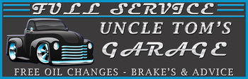 Uncle's Garage | Personalized Metal Signs