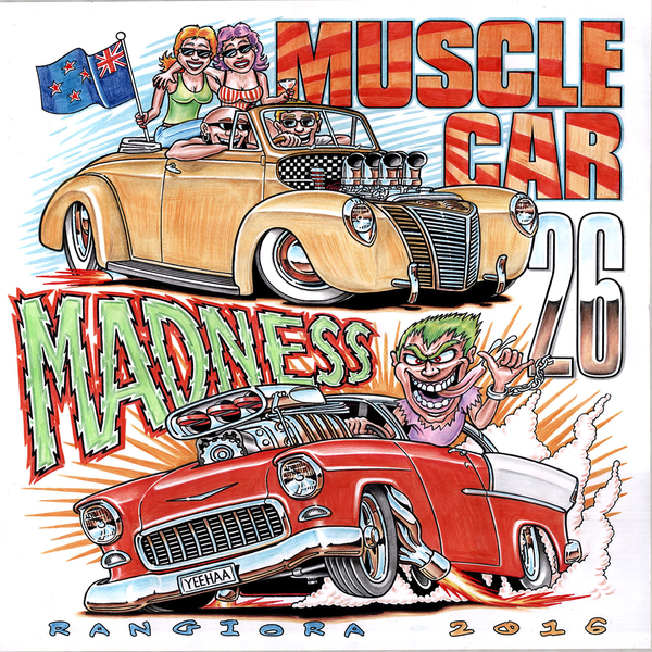 Muscle Car Madness 2016 Event Signs