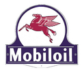 Mobil Lollipop Sign