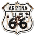 22-1AZR  Rustic Arizona 66 Shield