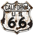 22-1CAR  Rustic California 66 Shield