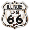 22-1ILR  Rustic Illinois 66 Shield