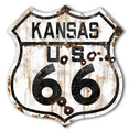 Rustic Kansas 66 Shield