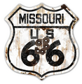 22-1MIR  Rustic Missouri 66 Shield