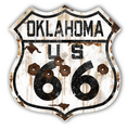 Rustic Oklahoma 66 Shield