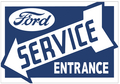 Ford Service Sign Left