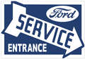 Ford Service Sign Right