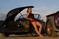 Girl and Custom Car