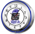 SC-27 SHELBY DOUBLE NEON CLOCK