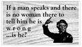 When a Man Speaks